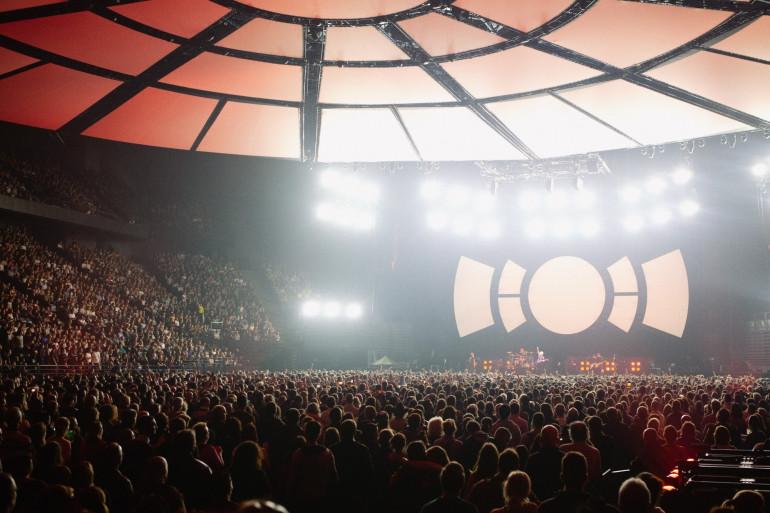 La marée humaine au concert d'Indochine à l'AccorHotels Arena le 14 novembre 2018