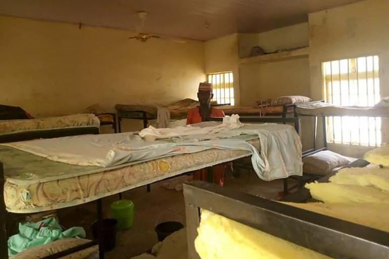 Le dortoir de l'école où les adolescentes ont été enlevées au Nigéria