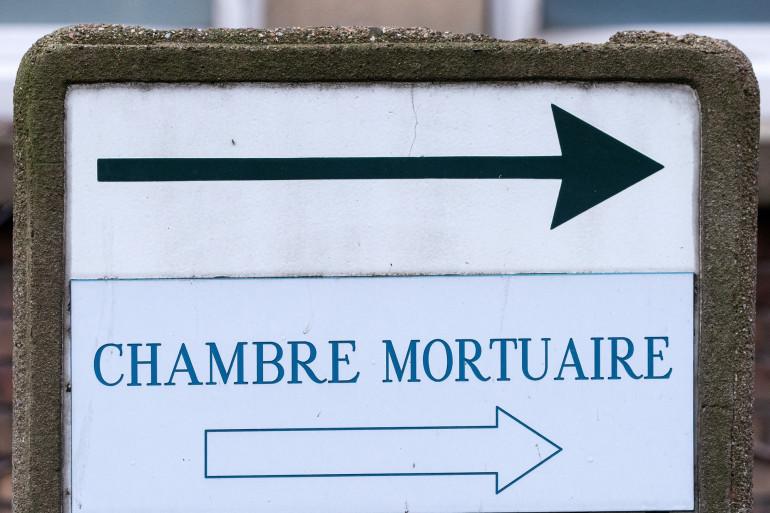 L'entrée de la salle mortuaire d'un hôpital (illustration).