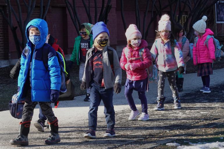 Les enfants ont pu retourner à l'école lundi 1er mars à Chicago