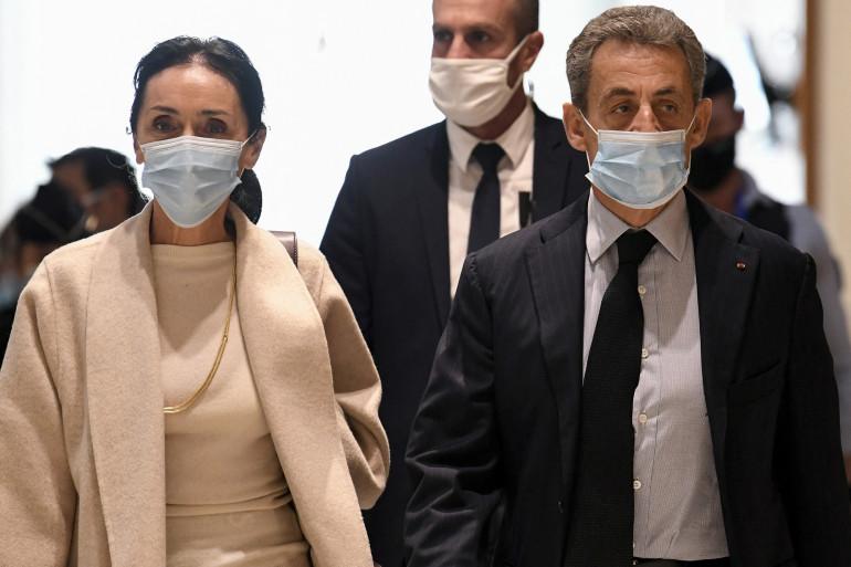 Jacqueline Laffont et Nicolas Sarkozy