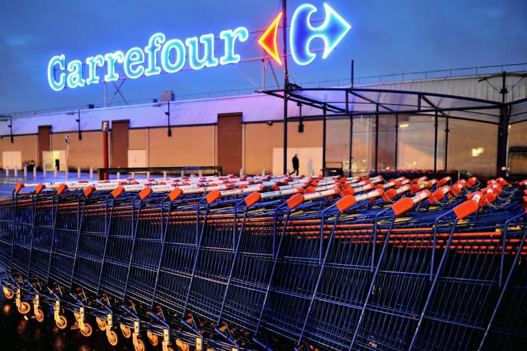 Une enseigne Carrefour (illustration)
