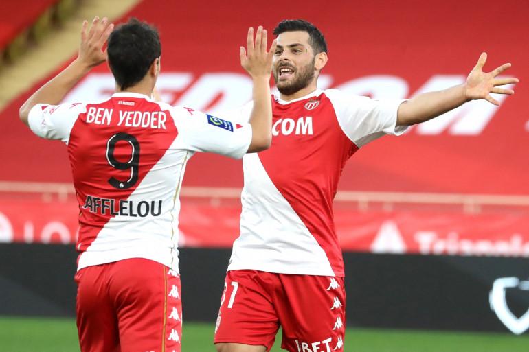 Wissam Ben Yedder et Kevin Volland à Monaco le 29 novembre 2020