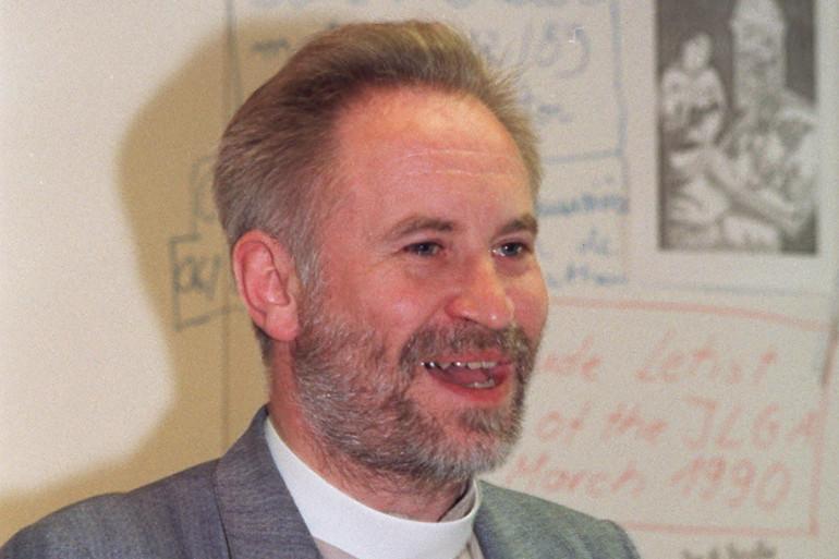 Le pasteur Joseph Doucé, le 27 mai 1990.