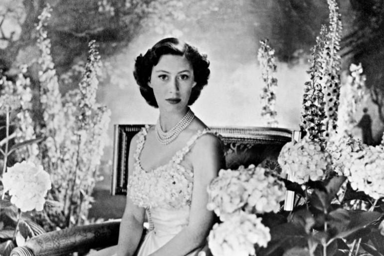 Photo prise dans les années 1940 à Londres de la princesse Margaret, la plus jeune sœur de la future reine britannique Elizabeth II.