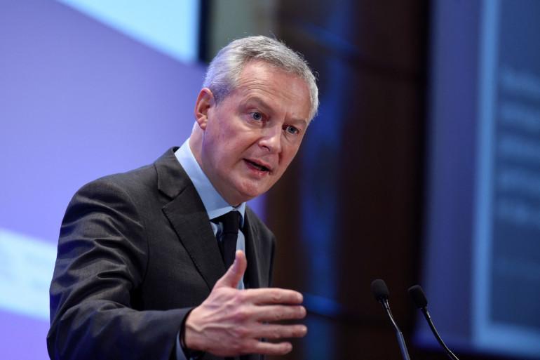 Le ministre de l'Économie et des Finances, Bruno Le Maire, lors d'un discours à Paris le 4 mars 2021. 9494PN