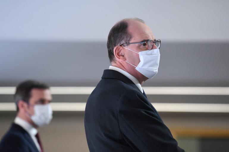 Le Premier ministre Jean Castex, lors d'un point presse hebdomadaire sur l'épidémie de coronavirus, le 4 mars 2021 à Paris.
