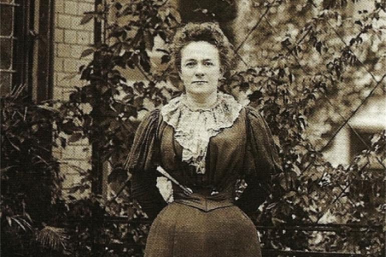 Clara Zetkin à Zurich en 1897.