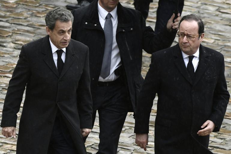 Nicolas Sarkozy et François Hollande en mars 2018.
