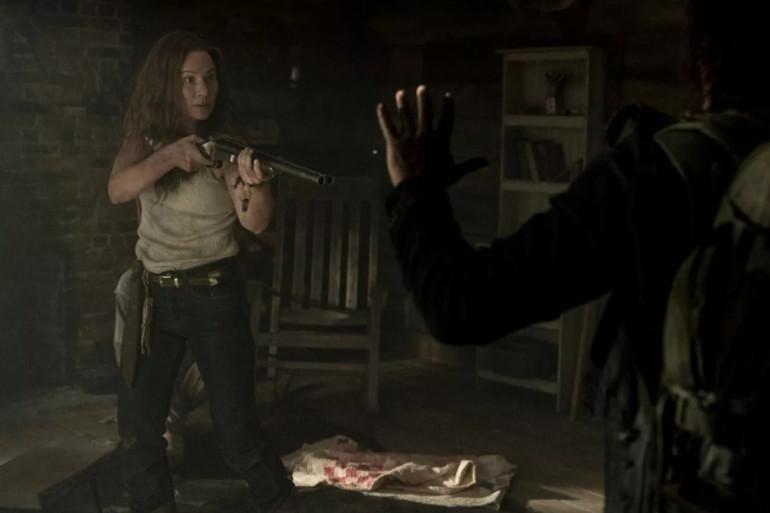 """Daryl face à Leah dans l'épisode 18 de """"The Walking Dead"""""""