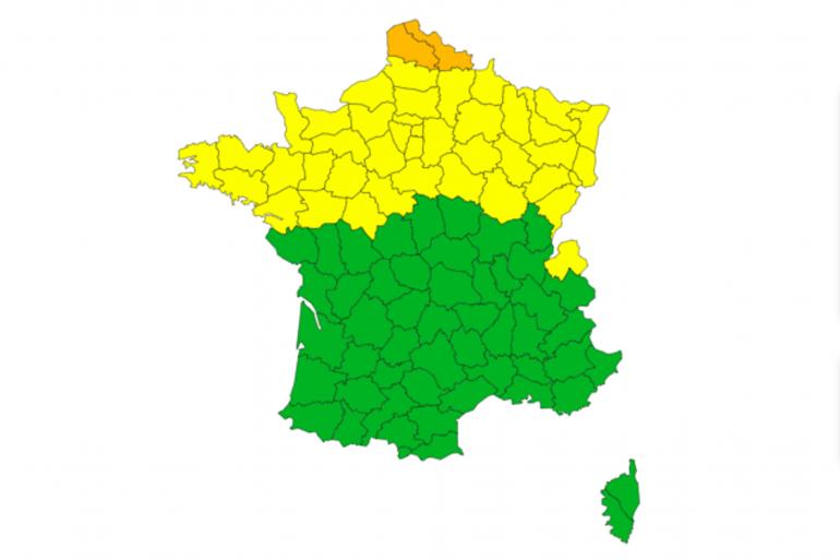 Météo France place le Pas-de-Calais et le Nord en vigilance orange vent violent jusqu'au jeudi 11 mars 16 heures.