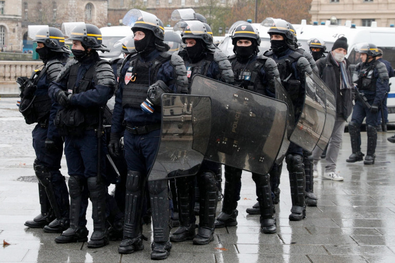 Des policiers anti-émeutes (illustration)