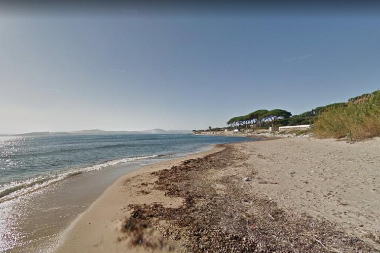 Une plage à Sainte-Maxime dans le Var