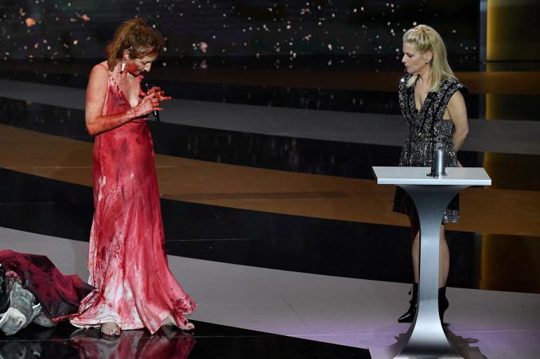 Corinne Masiero lors de la cérémonie des César 2021