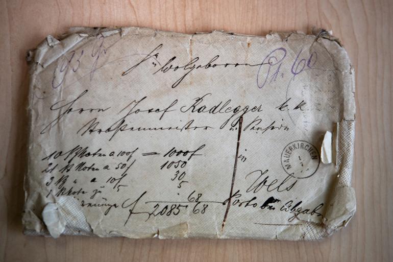 Une des correspondances d'Alois Hitler au responsable de l'entretien des routes Josef Radlegger.