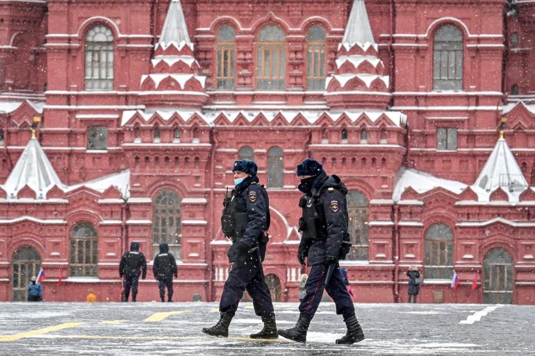 Des policiers russes à Moscou (illustration)