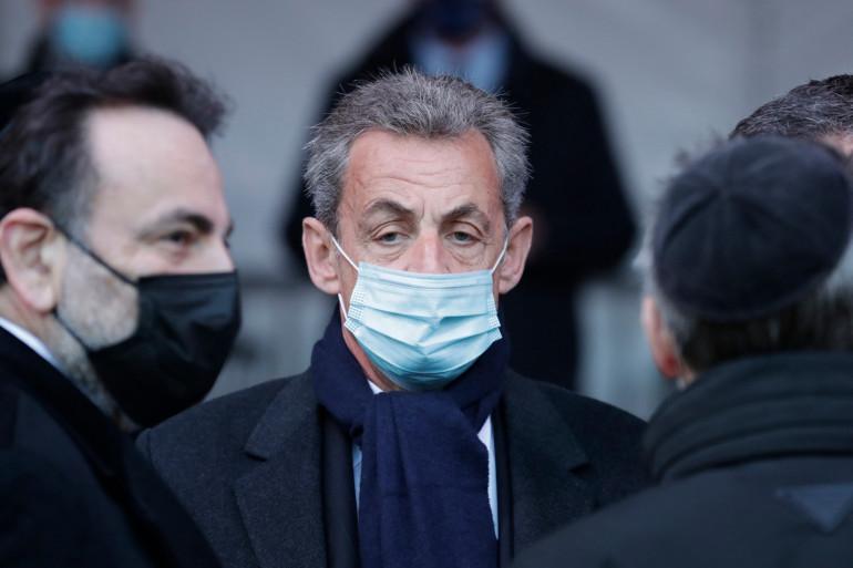L'ancien président Nicolas Sarkozy avant une cérémonie d'hommage aux victimes du terrorisme à Paris, le 11 mars 2021.