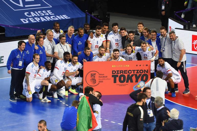 L'équipe de France de handball a célébré sa qualification pour les Jeux Olympiques de Tokyo, le dimanche 14 mars 2021