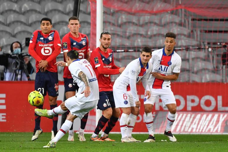 Parisiens et Lillois au stade Pierre-Mauroy de Villeneuve-d'Ascq le 20 décembre 2020 (0-0)