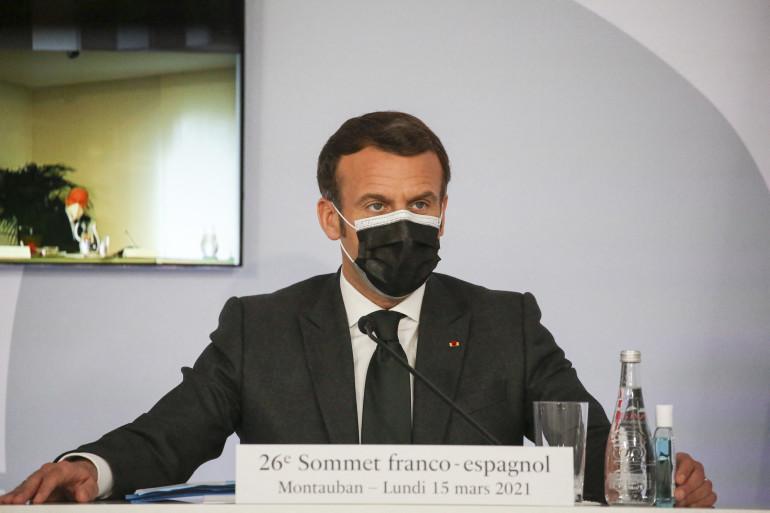 Emmanuel Macron à Montauban, le 15 mars 2021