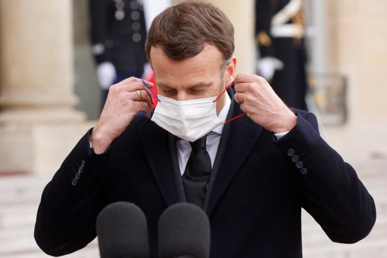 Emmanuel Macron le 17 mars 2021