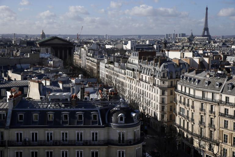 Une image des rues de Paris, en février 2015