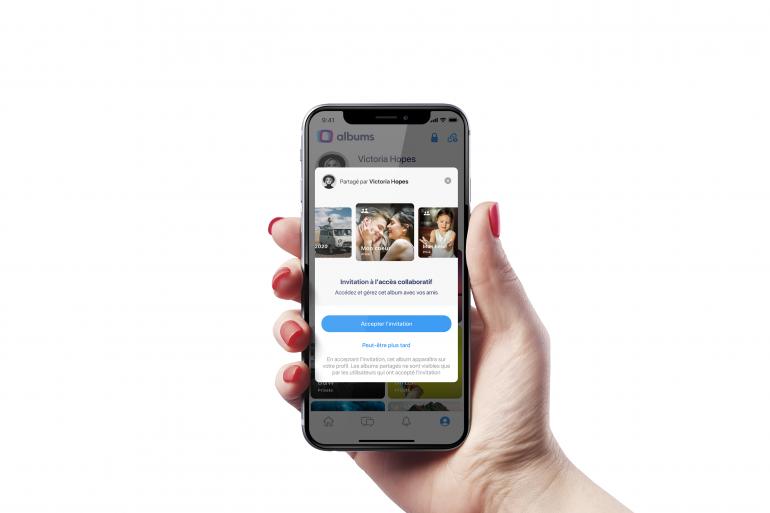 Albums est un nouveau réseau social dédié à l'échange d'images entre amis ou en famille, avec un fort accent sur le contrôle et la sécurité.