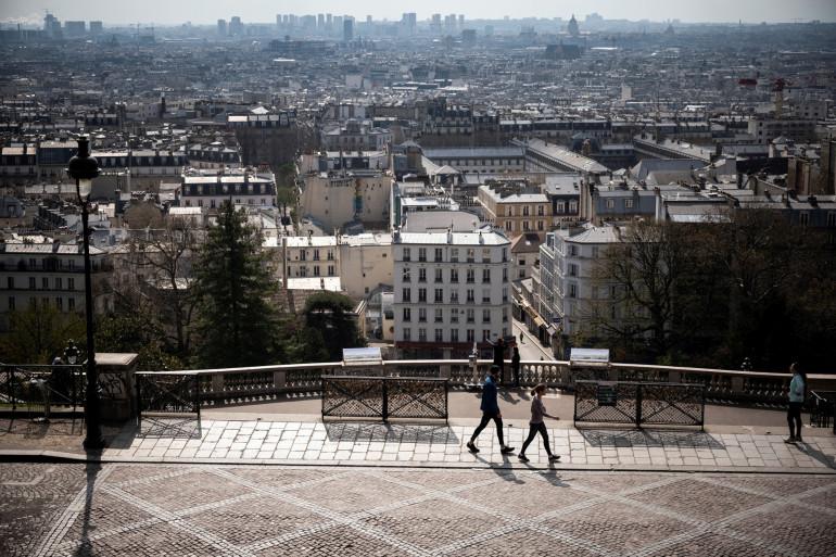 Photo du 6ème jour de confinement le 22 mars 2020 à Paris.