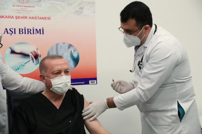 Le président turc Erdogan s'est fait vacciner le 14 janvier dernier