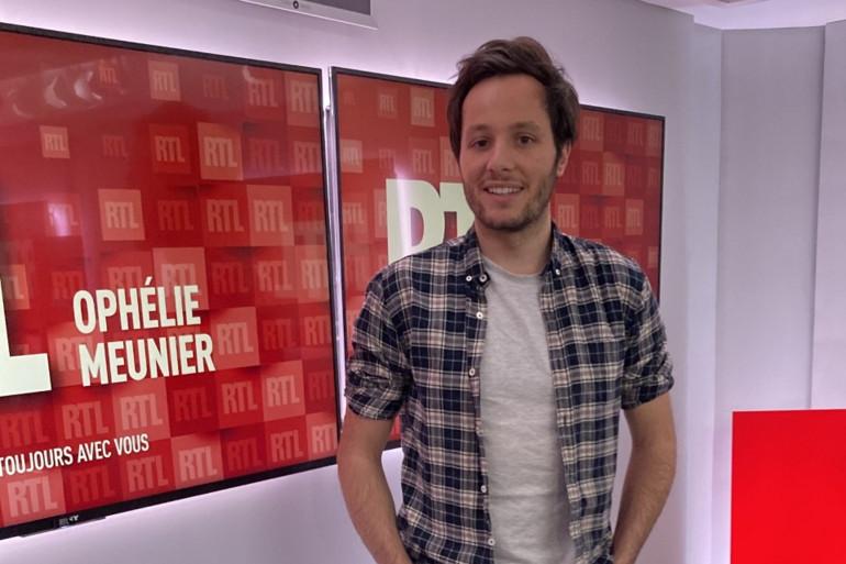 Vianney Bureau, le 20 mars 2021 dans les studios de RTL