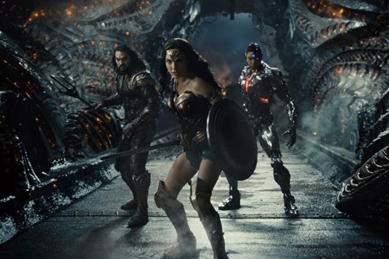 """Aquaman, Wonder Woman et Cyborg dans """"Justice League"""" de Zack Snyder"""