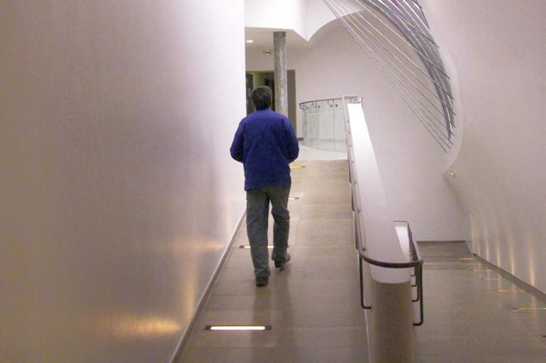 Dans les couloirs de l'ENS Lyon.