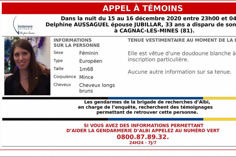 Delphine Jubillar, jeune infirmière de 33 ans en instance de divorce, a disparu le 16 décembre dernier.