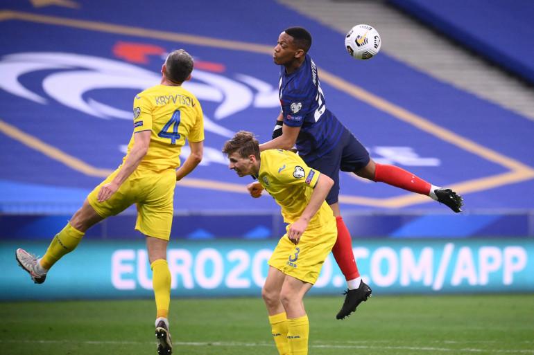 Anthony Martial avec les Bleus face à l'Ukraine à Saint-Denis le 24 mars 2021