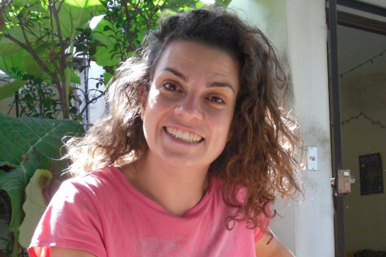 Florence Denèfle au Guatemala.