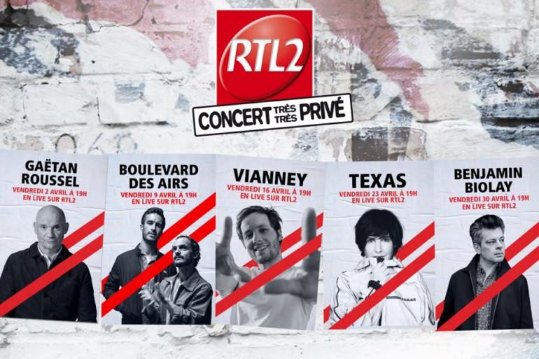 Les concerts très très privés de RTL2 en avril