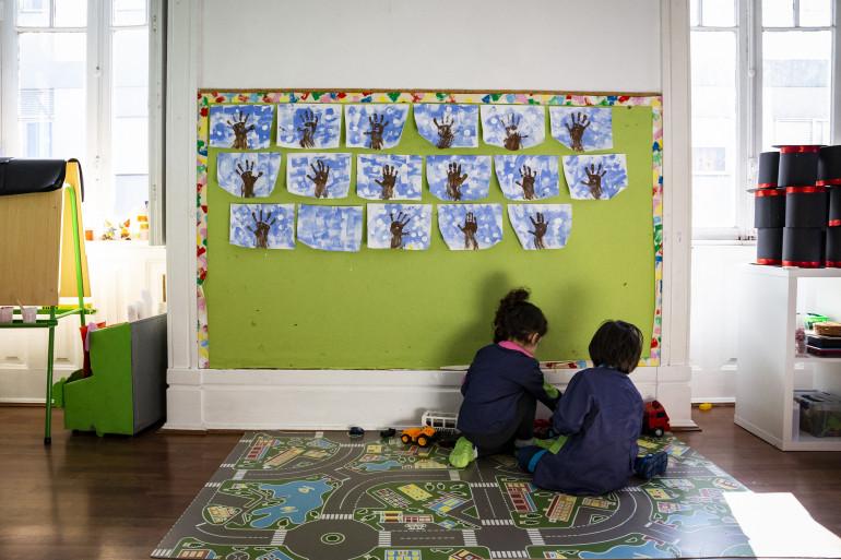 Photo d'écoliers (illustration)