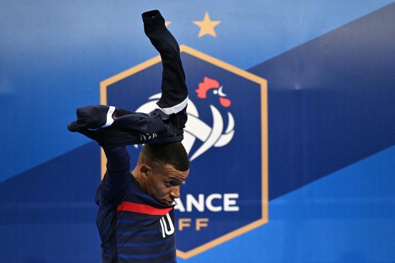 Kylian Mbappé au Stade de France le 24 mars 2020