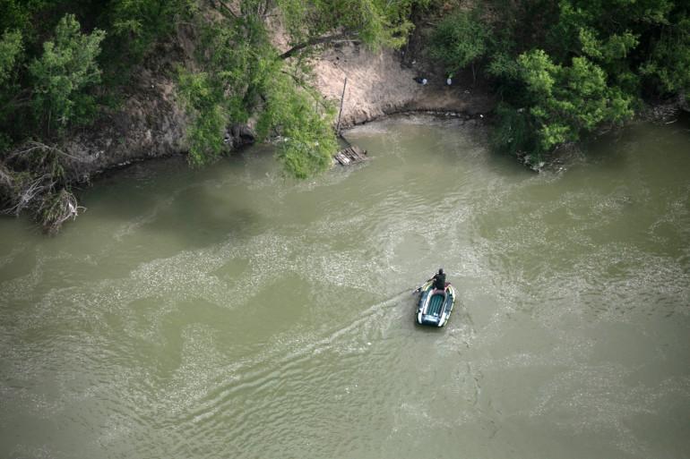 Le fleuve Rio Grande, qui sert de frontière entre le Mexique et les États-Unis.