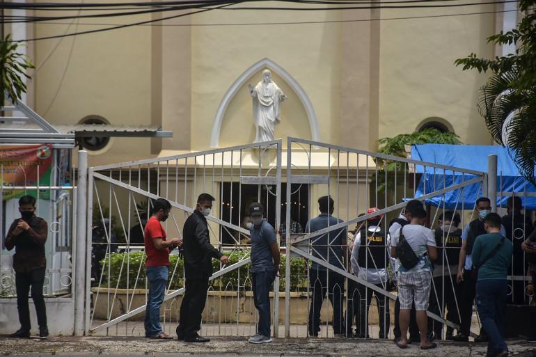 Une forte explosion s'est produite le 28 mars à proximité de la cathédrale de Makassar, en Indonésie