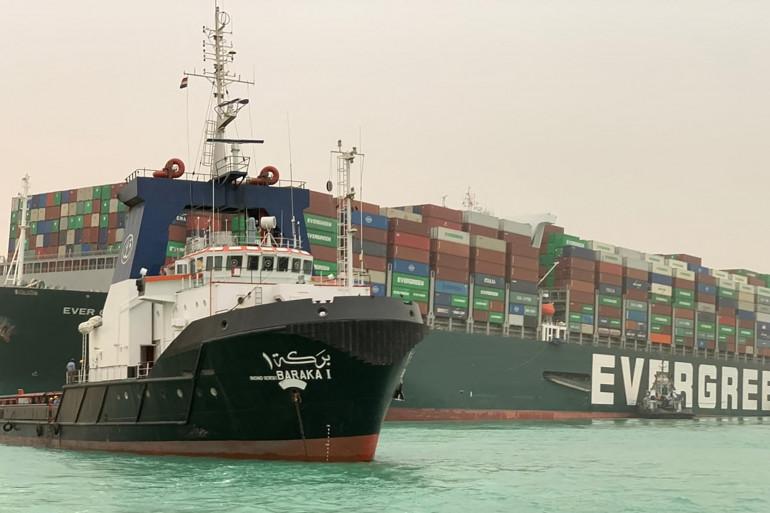 L'Ever Given est le porte-conteneurs qui bloque le canal de Suez depuis le 23 mars