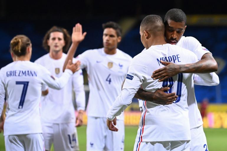 Griezmann, Rabiot, Varane, Mbappé et Kimpembe avec les Bleus à Solna le 5 septembre 2020
