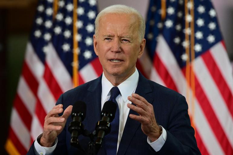 Le président américain Joe Biden s'exprime à Pittsburgh, en Pennsylvanie, le 31 mars 2021.