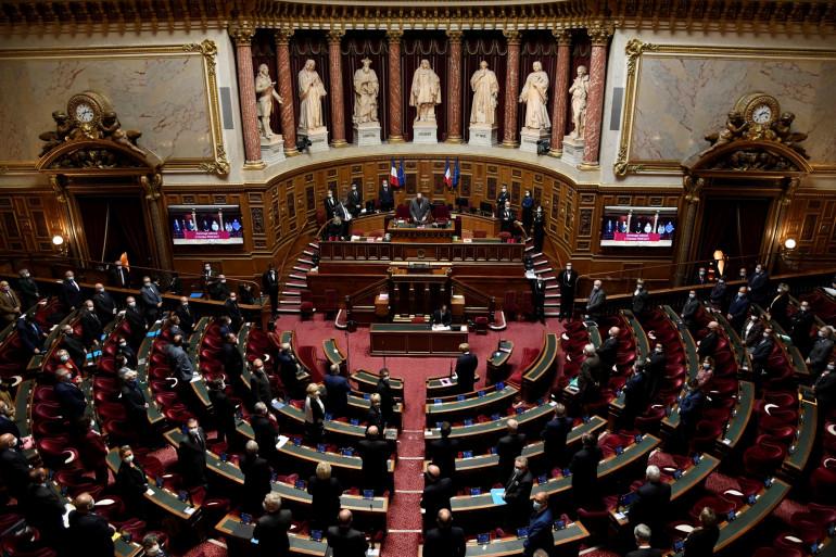 Photo du Sénat le 13 octobre 2020 Paris.