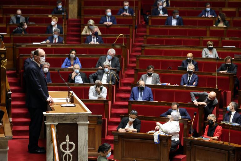 Le Premier ministre Jean Castex ce jeudi à l'Assemblée nationale à Paris.