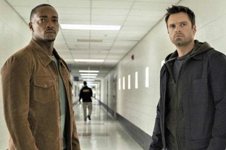 """Sam et Bucky dans """"Falcon et le soldat de l'Hiver"""""""
