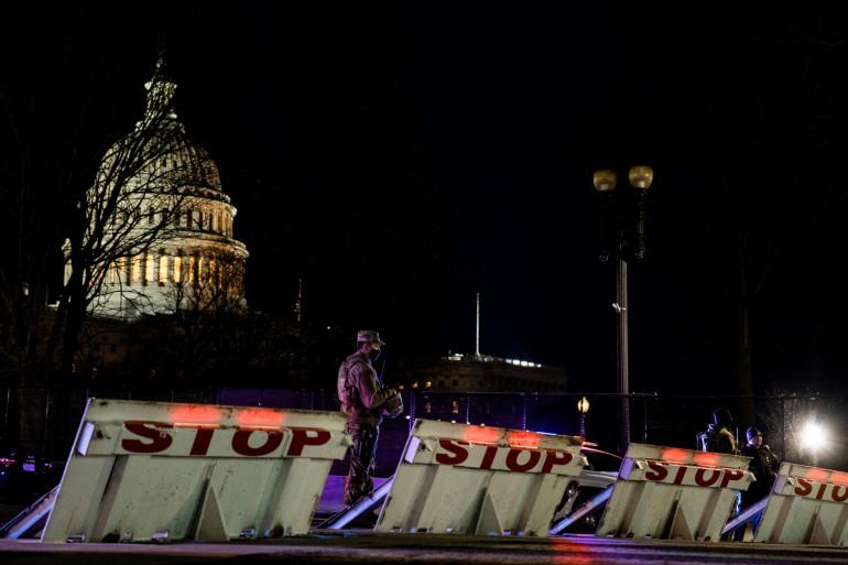 Le Capitole à Washington, surveillé par la garde nationale (illustration).