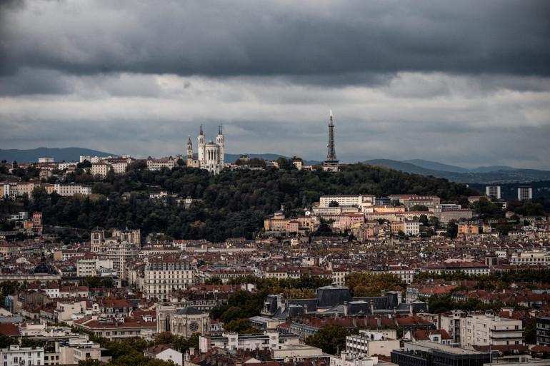 Une vue de Lyon (illustration)