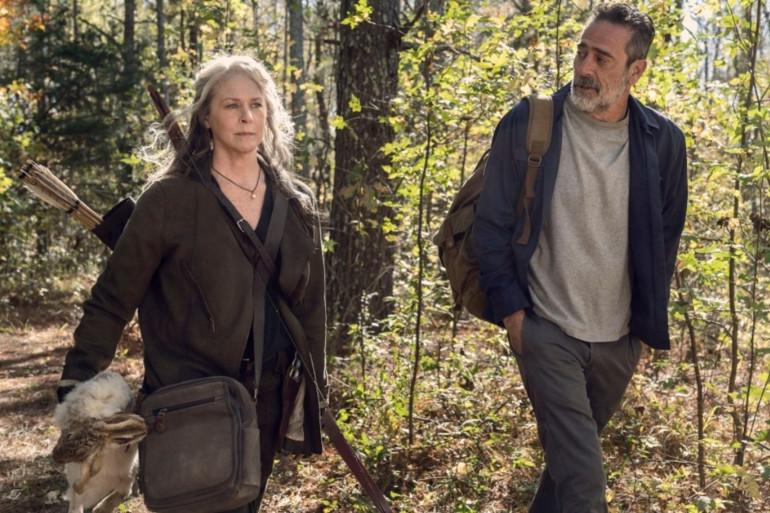"""Carol et Negan dans l'épisode final de la saison 10 de """"The Walking Dead"""""""