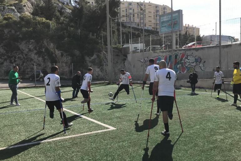L'équipe de football pour amputés US Endoume.